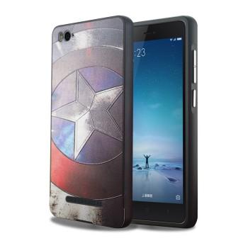 Двухкомпонентный чехол c металлическим бампером с поликарбонатной накладкой и объемно-рельефным УФ-принтом для Xiaomi Mi4i