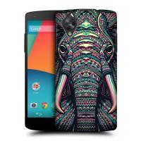 Пластиковый чехол с принтом Animals для Nexus 5 Слон