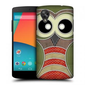 Пластиковый чехол с принтом Animals для Nexus 5 Совенок
