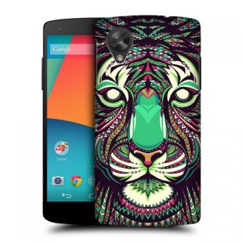 Пластиковый чехол с принтом Animals для Nexus 5 Тигр