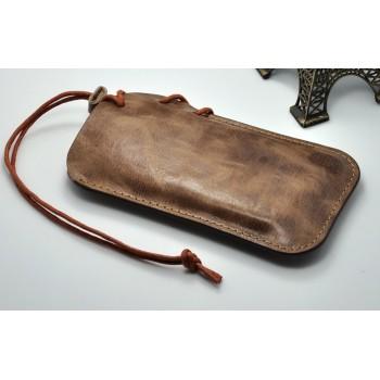 Кожаный мешок с ремнем-затяжкой для Google Nexus 5