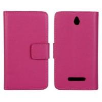 Чехол книжка-портмоне для Sony Xperia E dual Пурпурный