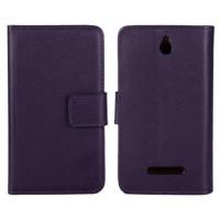 Чехол книжка-портмоне для Sony Xperia E dual Фиолетовый