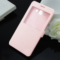 Чехол флип на пластиковой основе серия Crystal Rear для Samsung Galaxy A5 Розовый