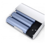 Портативное зарядное устройство в матовом металлическом корпусе 20800 mAh