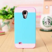 Двуцветный силикон-пластик чехол для Samsung Galaxy S4 Mini