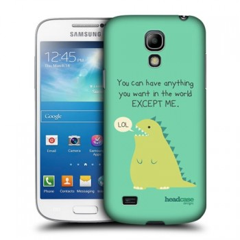 Пластиковый чехол с принтом для Samsung Galaxy S4 Mini Динозавр
