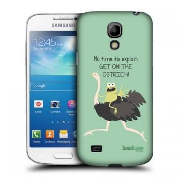 Пластиковый чехол с принтом для Samsung Galaxy S4 Mini Страус