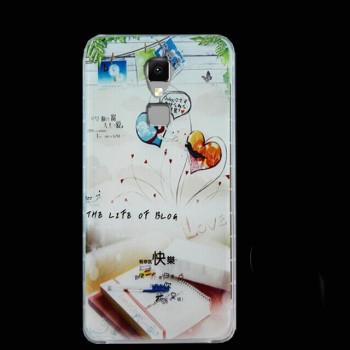 Силиконовый матовый непрозрачный чехол с принтом для Elephone S3