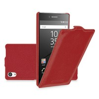 Кожаный чехол вертикальная книжка для Sony Xperia Z5 Premium Красный