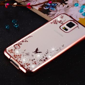 Силиконовый матовый полупрозрачный чехол с текстурным покрытием Узоры для Samsung Galaxy S5 (Duos)
