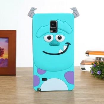 Силиконовый матовый непрозрачный дизайнерский фигурный чехол для Samsung Galaxy Note 4