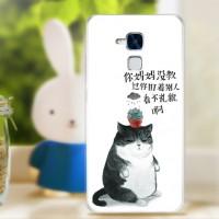 Силиконовый матовый непрозрачный чехол с принтом для Huawei Honor 5C
