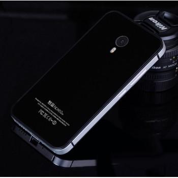 Двухкомпонентный чехол c металлическим бампером с поликарбонатной двухцветной накладкой для Meizu M2 Note