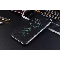 Точечный чехол смарт-флип с функциями оповещения для HTC One M9+ Черный
