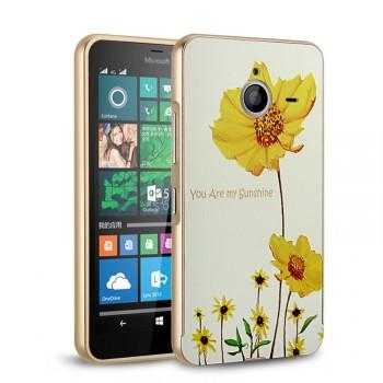 Двухкомпонентный чехол c металлическим бампером с поликарбонатной накладкой и УФ-принтом для Microsoft Lumia 640 XL
