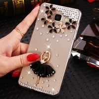 Пластиковый полупрозрачный чехол с аппликацией ручной работы для Samsung Galaxy A5 (2016)