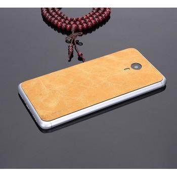 Экстратонкая клеевая кожаная накладка для Meizu M3 Note