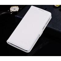 Чехол портмоне подставка глянцевая кожа для Lenovo S660 Белый