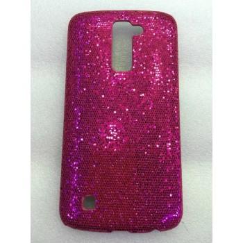 Пластиковый непрозрачный матовый чехол с ручной аппликацией для LG K10