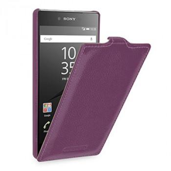 Кожаный чехол вертикальная книжка (премиум нат. кожа) для Sony Xperia Z5 Premium