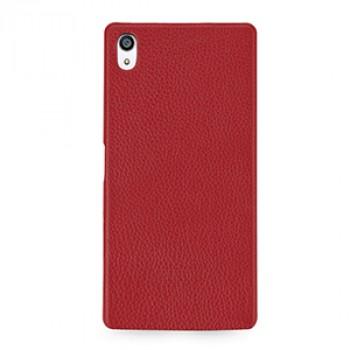 Кожаный чехол накладка (премиум нат. кожа) для Sony Xperia Z5 Premium