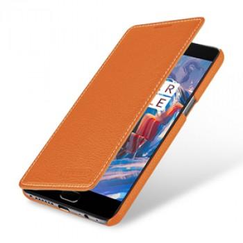 Кожаный чехол горизонтальная книжка (премиум нат. кожа) для OnePlus 3