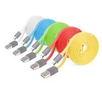Кабель USB-Micro USB плоский серия Multicolor 1.5m для Nokia 515