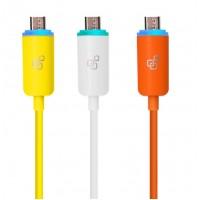 Кабель USB-Micro USB с LED индикацией процесса зарядки двухцветный 1m