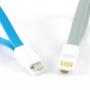 Кабель USB-Micro USB плоский силиконовый 0.2m