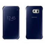 Двухмодульный пластиковый чехол флип с полупрозрачной акриловой крышкой с зеркальным покрытием для Samsung Galaxy S6 Edge