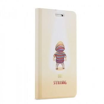 Чехол горизонтальная книжка подставка на пластиковой основе с полноповерхностным принтом для Huawei GR3
