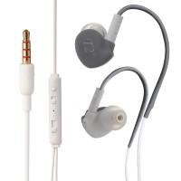 Спортивные наушники вкладыши серия Alternative Ear с регулятором громкости и функцией гарнитуры 18-22000Hz 16Ohm Серый