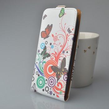 Чехол вертикальная книжка на силиконовой основе с полноповерхностным принтом на магнитной защелке для Wileyfox Swift