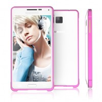 Металлический бампер для Samsung Galaxy Alpha Пурпурный