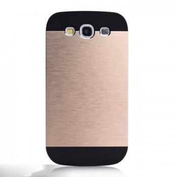 Двуцветный премиум чехол с эффектом металлик для Samsung Galaxy Win