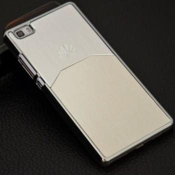 Пластиковый непрозрачный матовый чехол с текстурным покрытием Металл для Huawei P8 Lite