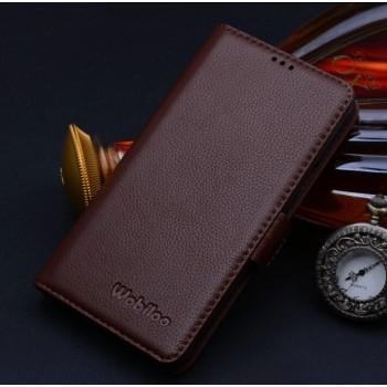 Кожаный чехол портмоне (нат. кожа) для Samsung Galaxy Alpha