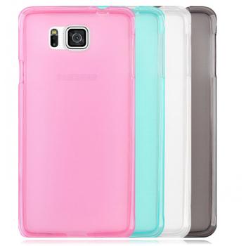 Силиконовый матовый полупрозрачный чехол для Samsung Galaxy Alpha