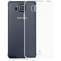 Силиконовый транспарентный чехол для Samsung Galaxy Alpha