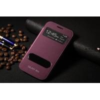 Чехол флип с окном вызова и свайпом для Samsung Galaxy Win Пурпурный