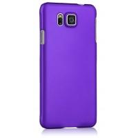 Пластиковый матовый непрозрачный чехол для Samsung Galaxy Alpha Фиолетовый