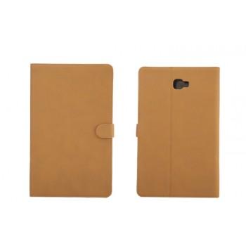 Винтажный чехол книжка подставка на непрозрачной поликарбонатной основе с магнитной защелкой и отсеком для карт для Samsung Galaxy Tab A 10.1 (2016)