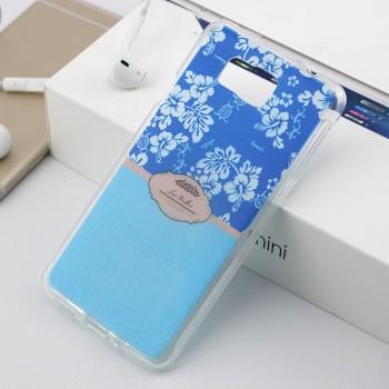 Силиконовый матовый дизайнерский чехол с принтом для Samsung Galaxy Alpha