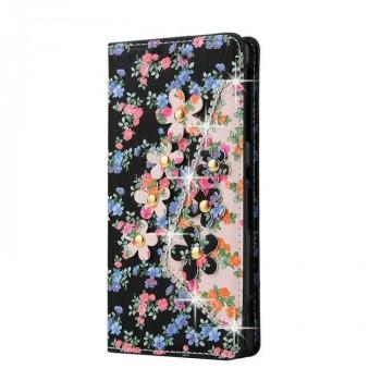 Чехол портмоне подставка на силиконовой основе с полноповерхностным принтом для Sony Xperia E5
