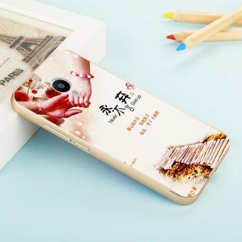 Двухкомпонентный чехол c металлическим бампером с поликарбонатной накладкой и УФ-принтом для Meizu M3s Mini