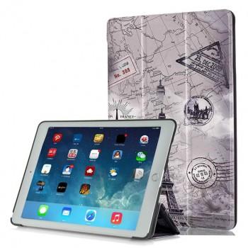 Сегментарный чехол книжка подставка на непрозрачной поликарбонатной основе с полноповерхностным принтом для Lenovo Tab 3 7 Essential
