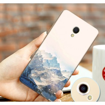 Силиконовый матовый непрозрачный чехол с принтом для Meizu MX6