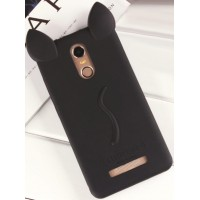 Силиконовый дизайнерский фигурный чехол киска для Xiaomi RedMi Note 3