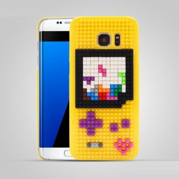 Пластиковый непрозрачный матовый чехол с повышенной шероховатостью с принтом для Samsung Galaxy S7 Edge